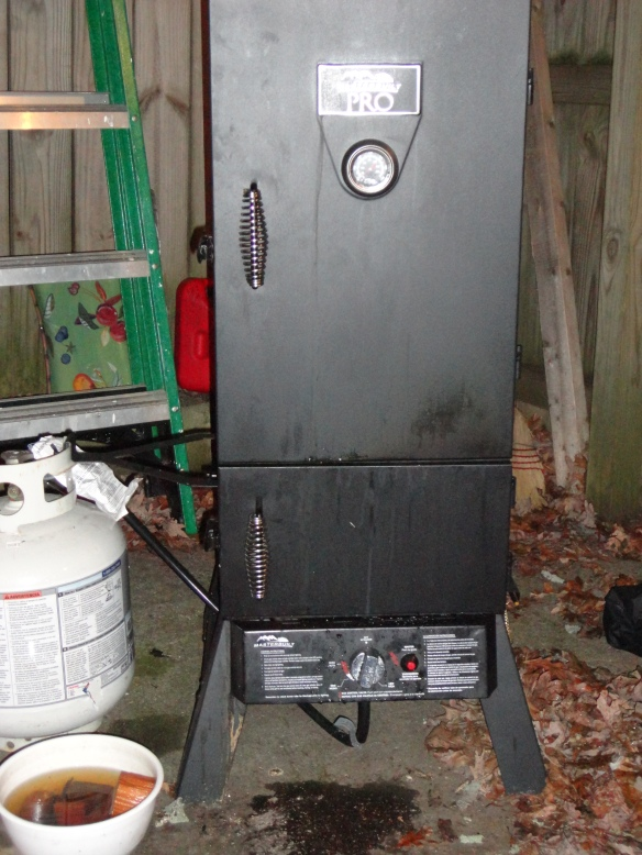 Propane Fired Wood Smoker