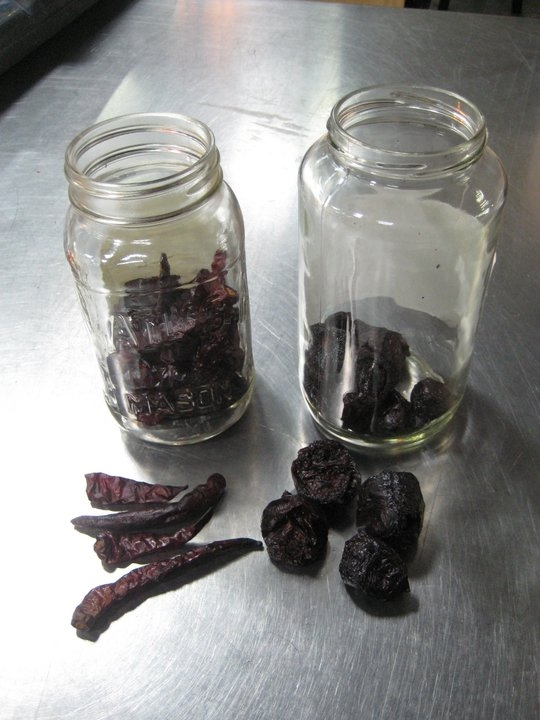 Jars of Smoked Peppers