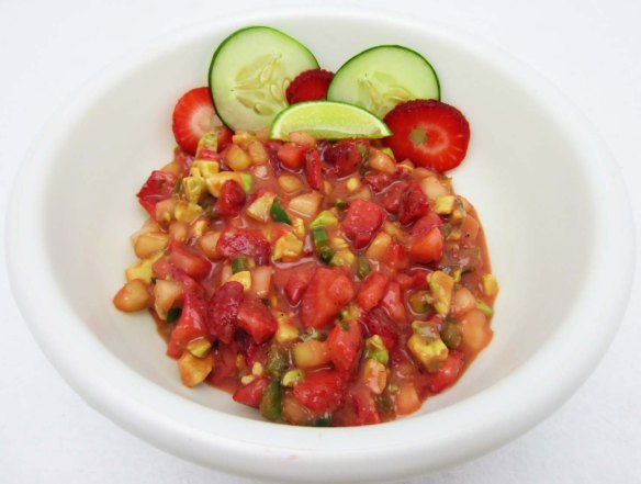 Enjoy this salsa with chips or with grilled chicken or seafood!