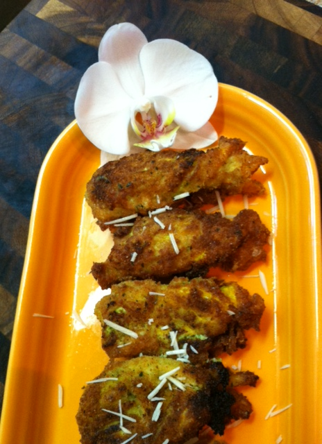 Fresh Fried Squash Blossoms with Summer Herbs